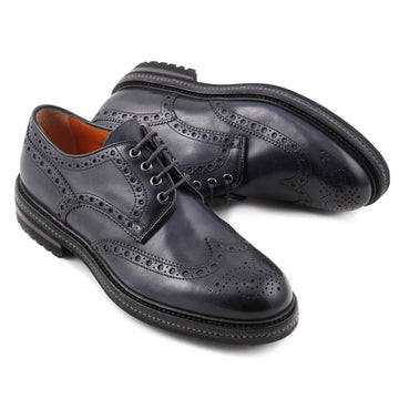 Santoni Wingtip Derby in Dark Blue
