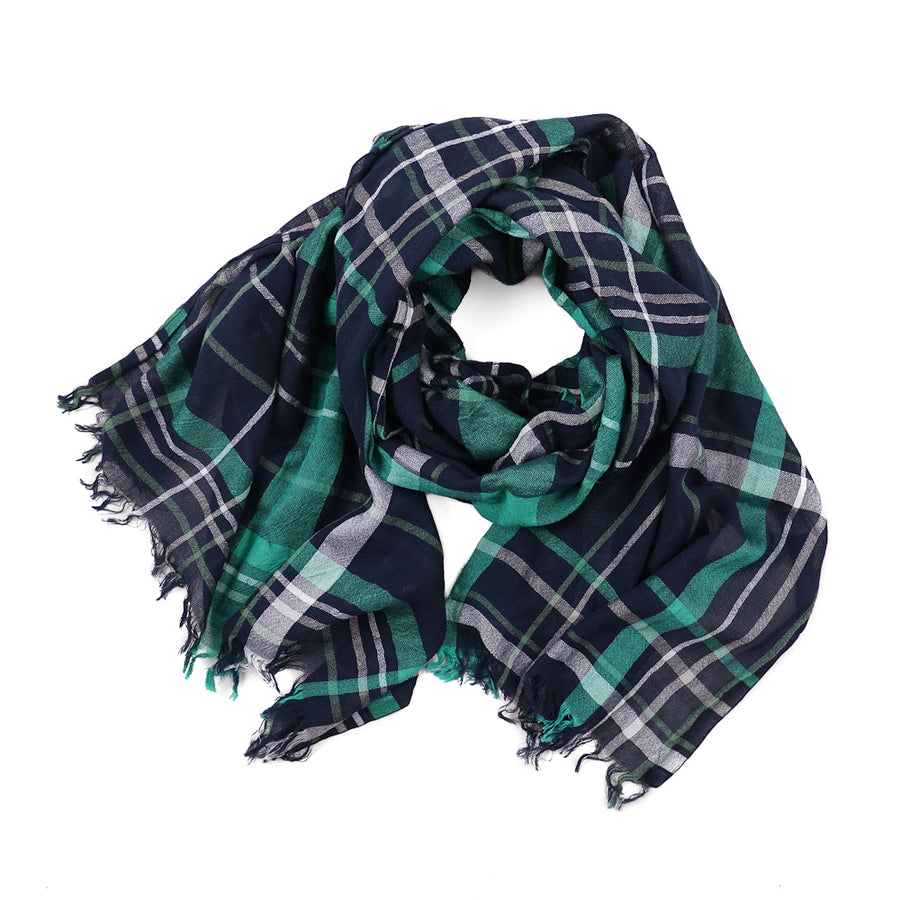Roda Check Print Cotton Scarf