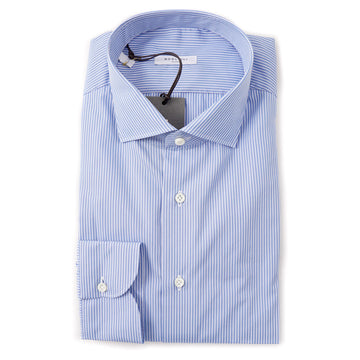 Boglioli Slim-Fit Dress Shirt in Sky Blue Stripe