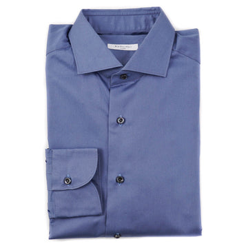 Boglioli Slim-Fit Cotton Shirt in Slate Blue