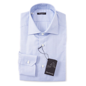 Sartorio Cotton Shirt in Patterned Sky Blue - Top Shelf Apparel