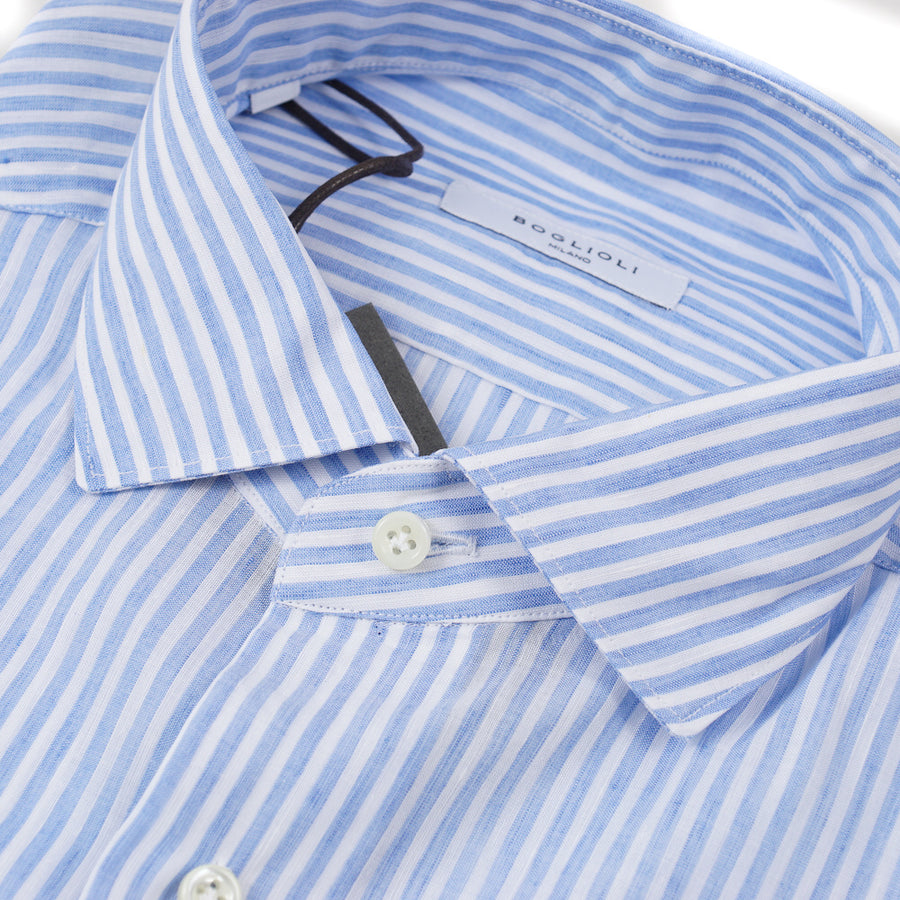Boglioli Extra-Slim Linen and Cotton Shirt