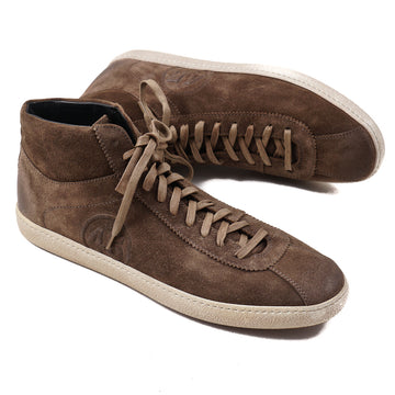 Santoni for AMG Mid-Top Suede Sneakers - Top Shelf Apparel