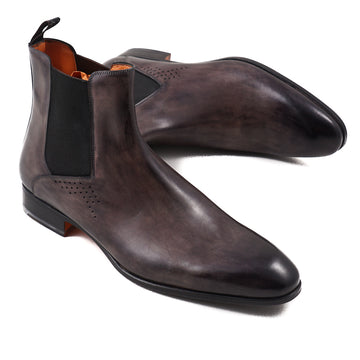 Santoni Chelsea Boots in Antique Gray