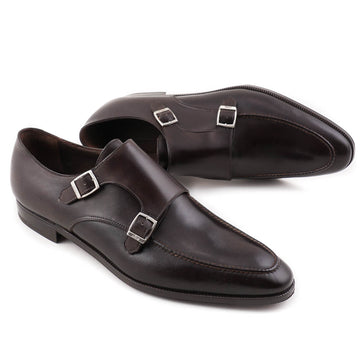 Brioni Double-Buckle Monk Strap Shoes