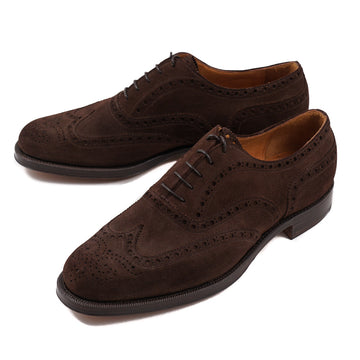 Silvano Lattanzi Wingtip in Chocolate Suede