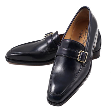 Silvano Lattanzi Buckle Loafer in Navy Blue