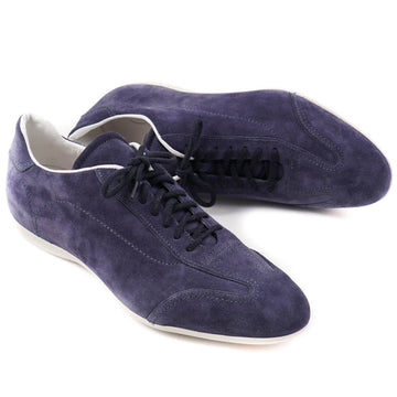 Santoni Low-Top Sneakers in Blue Suede
