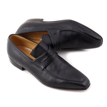 Brioni Soft Grained Black Leather Loafers