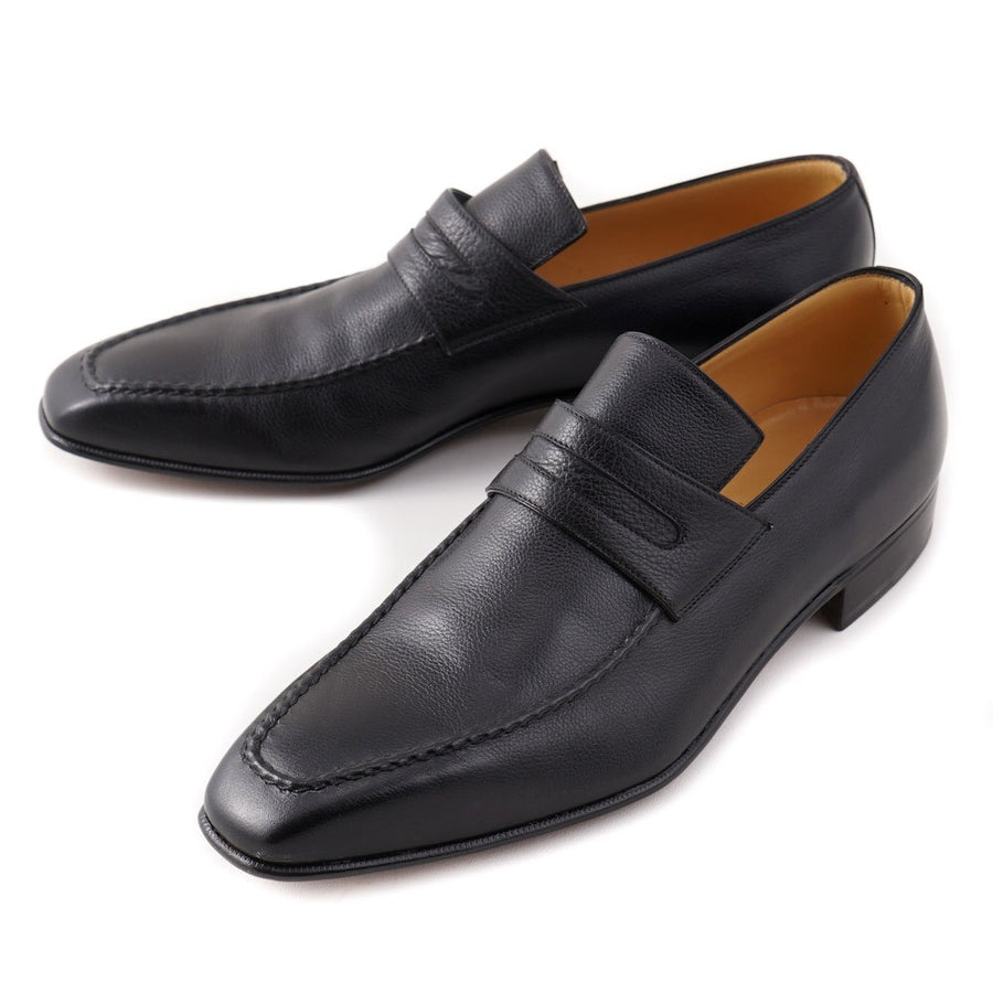 Brioni Soft Grained Black Leather Loafers - Top Shelf Apparel