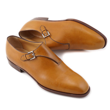 Brioni Golden Tan Monk Strap Shoes