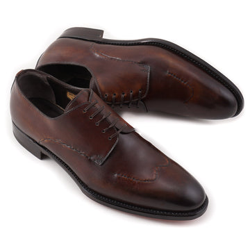 Brioni Limited-Edition Antique Brown Wingtip Derby