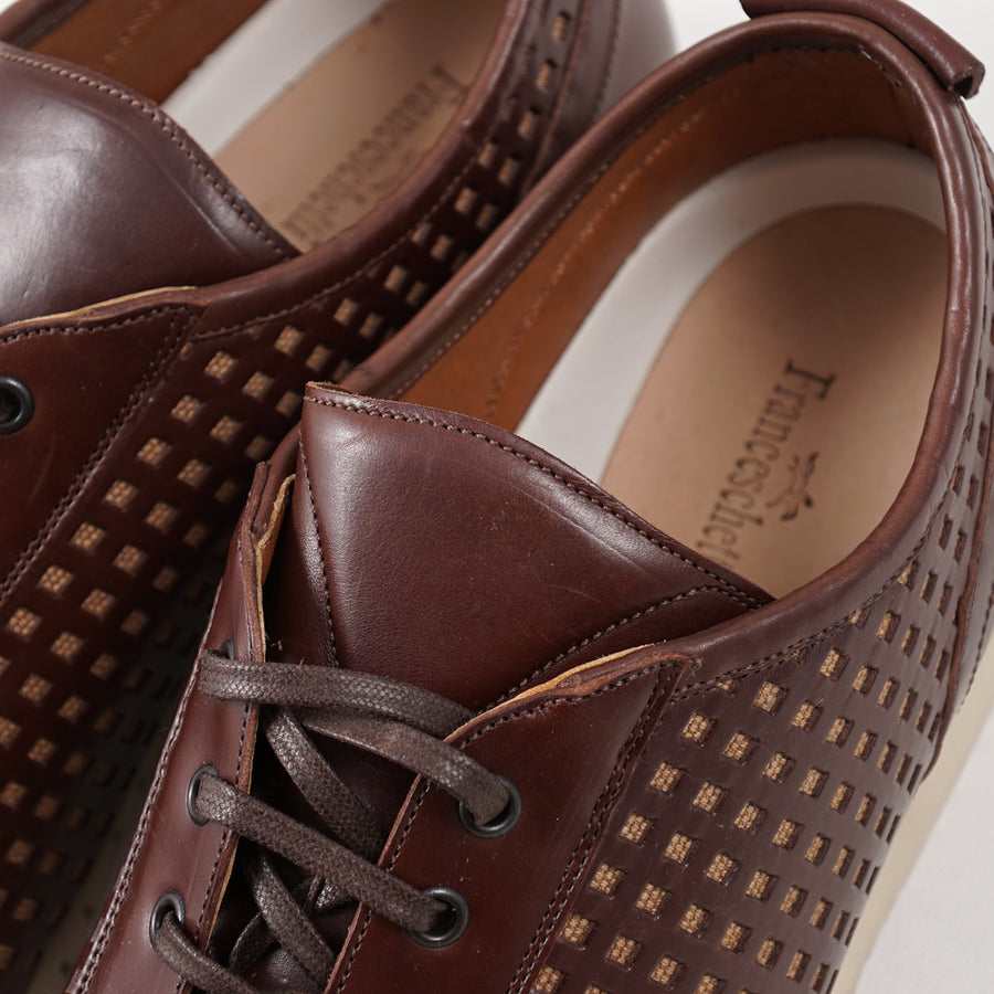 Franceschetti Punched Leather Sneakers