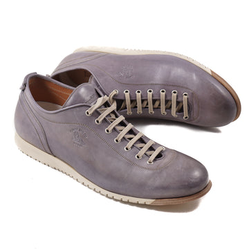 Franceschetti Antique Gray Leather Sneakers