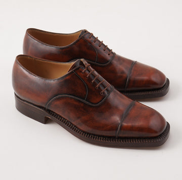 Silvano Lattanzi Cap Toe Balmoral in Antique Brown