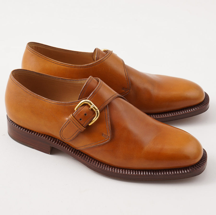 Silvano Lattanzi Monk Strap in Whiskey Tan