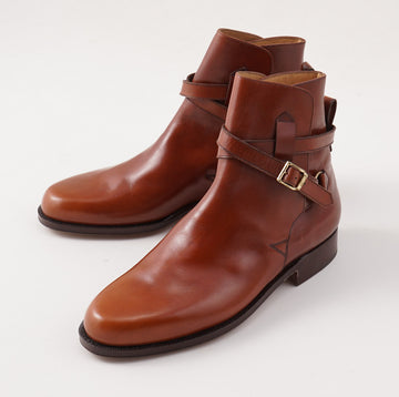 Silvano Lattanzi Jodhpur Ankle Boots in Acorn Brown