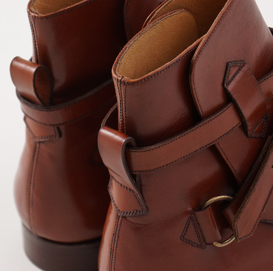 Silvano Lattanzi Jodhpur Ankle Boots in Acorn Brown - Top Shelf Apparel