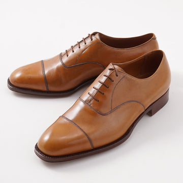 Silvano Lattanzi Cap Toe Balmoral in Golden Tan