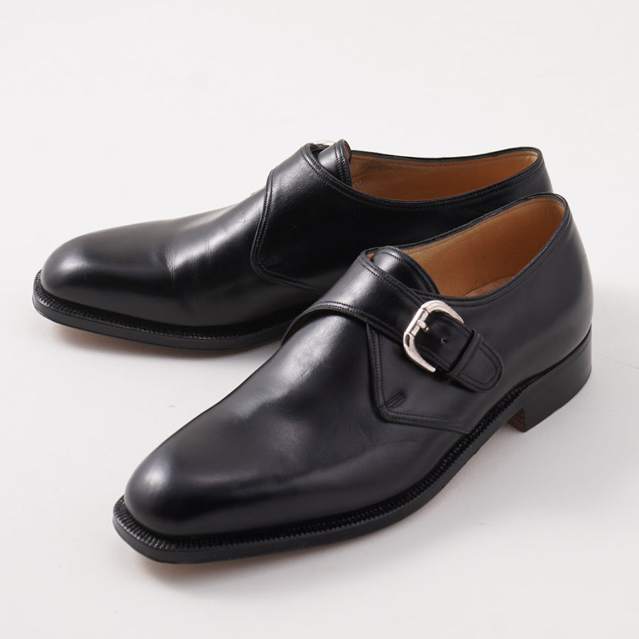 Silvano Lattanzi Monk Strap in Black Calf