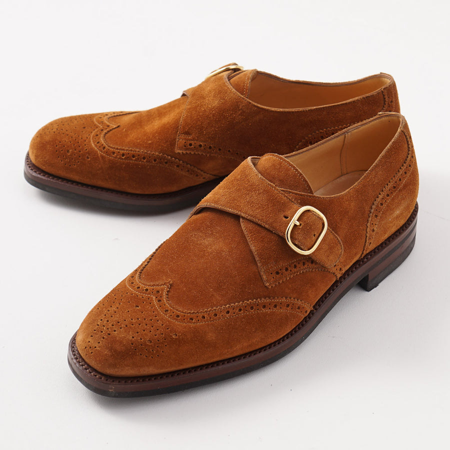 Silvano Lattanzi Monk Strap in Snuff Brown Suede - Top Shelf Apparel