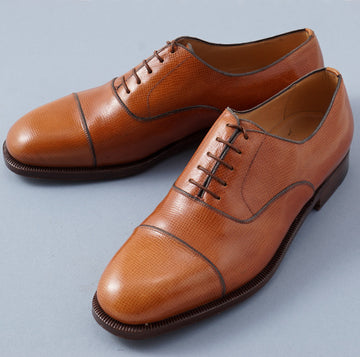 Silvano Lattanzi Cap Toe Balmoral in Whiskey Tan