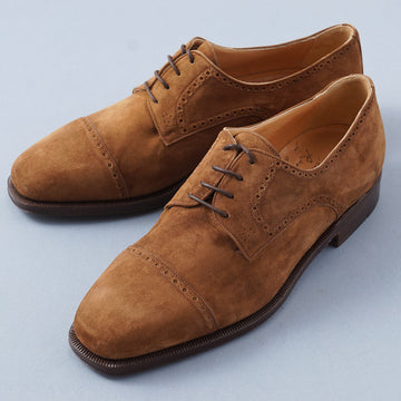 Silvano Lattanzi Cap Toe Derby in Brown Suede