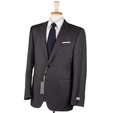 Canali Brown Micro Nailhead Wool Suit