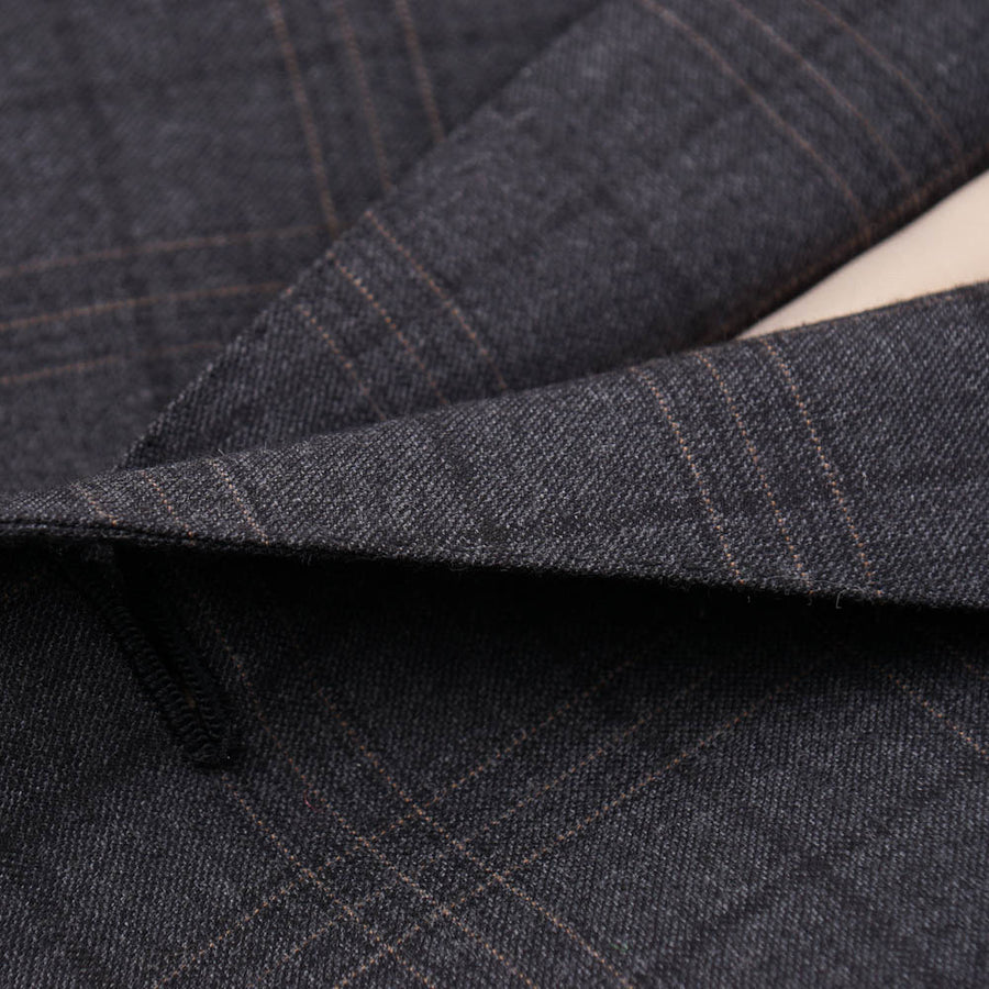 Isaia Gray Check Super 160s Wool Suit