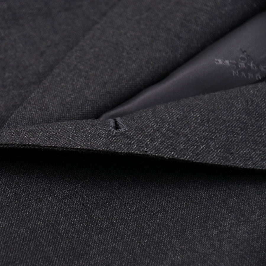 Kiton Charcoal Gray Wool and Cashmere Suit