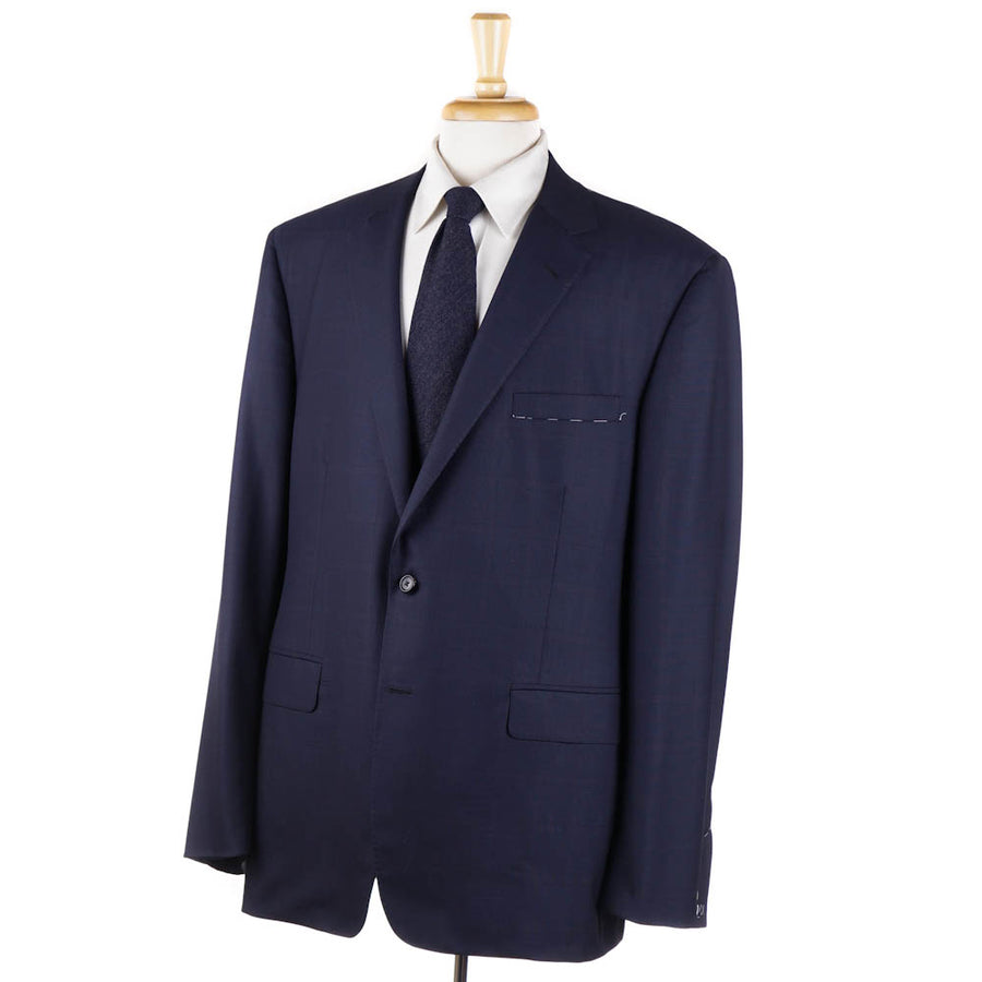 Oxxford 'Greenwich' Navy Check Wool Suit