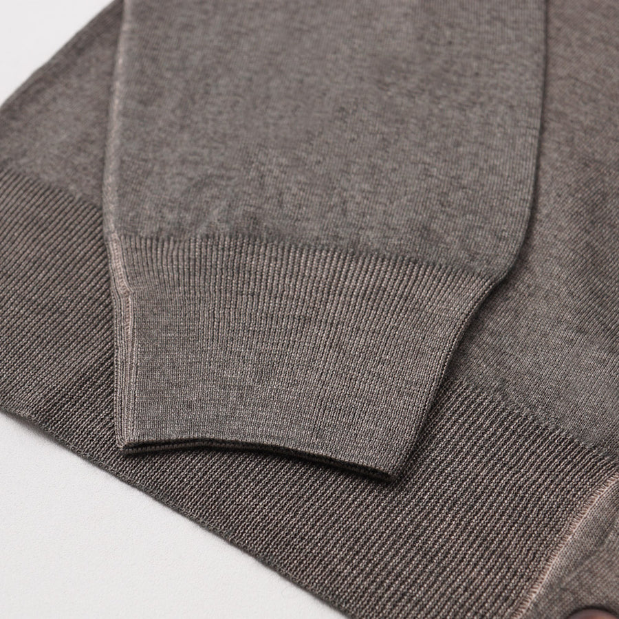 Cruciani Cashmere-Silk Cardigan in Olive Green
