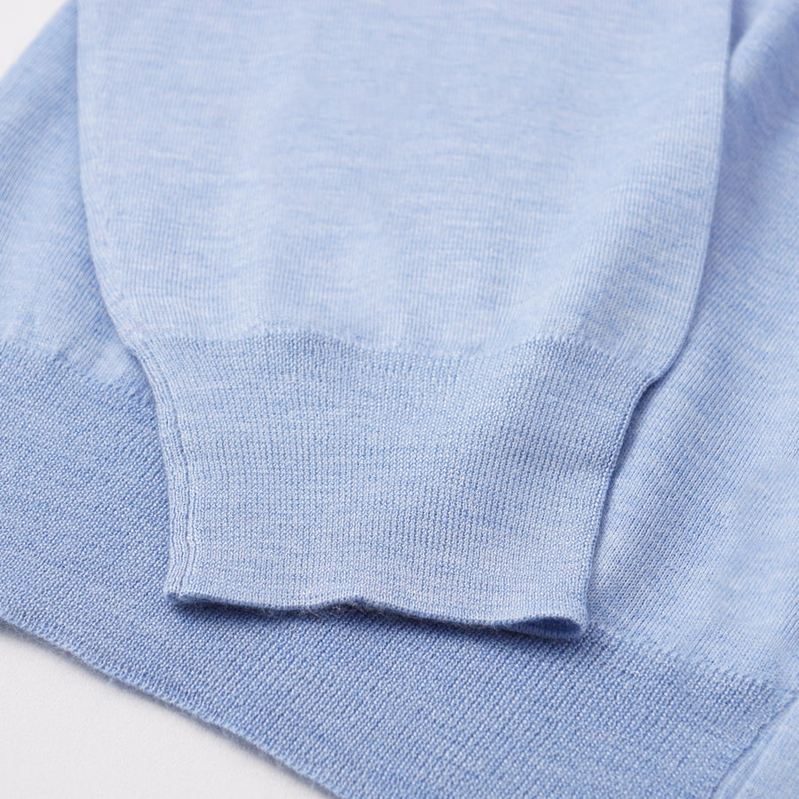 Cruciani Cashmere-Silk Cardigan in Sky Blue - Top Shelf Apparel