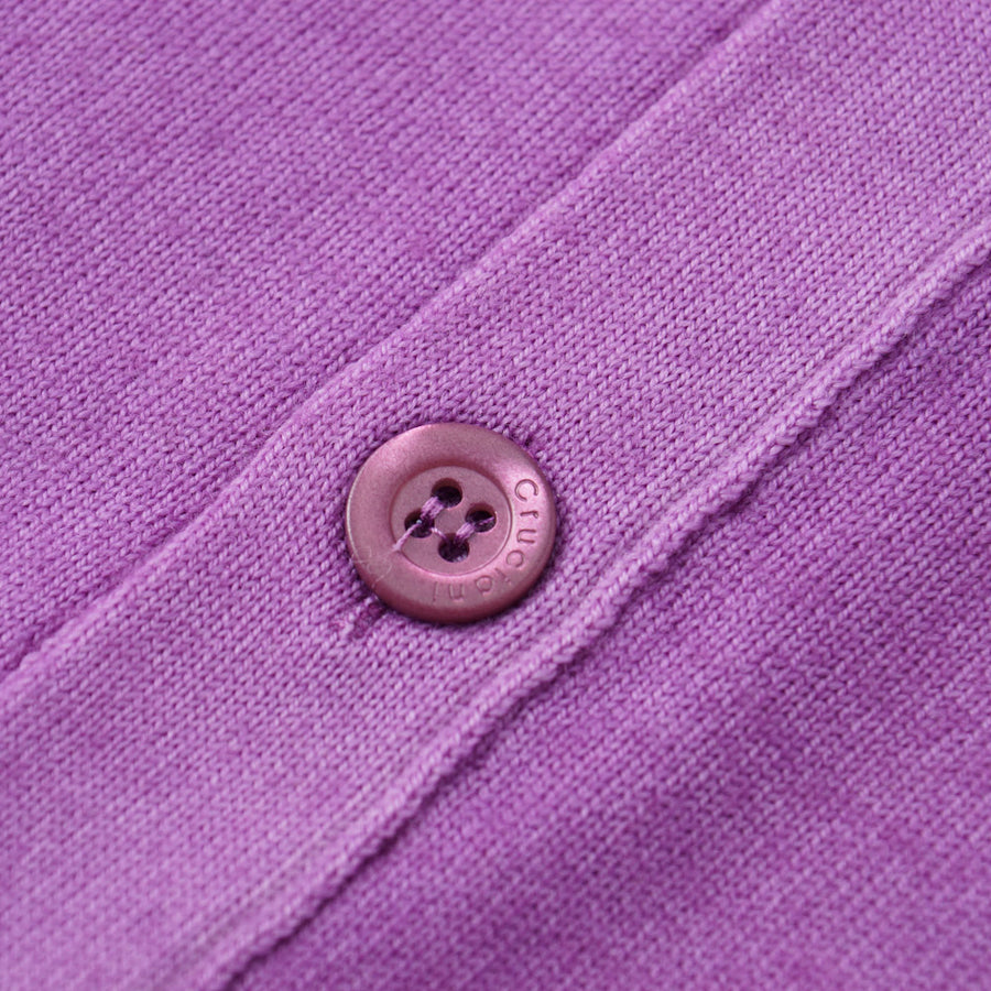 Cruciani Merino Wool Cardigan Vest in Lavender - Top Shelf Apparel
