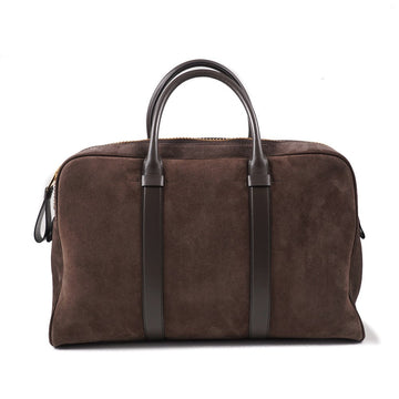 Tom Ford 'Buckley' Overnight Bag in Brown Suede