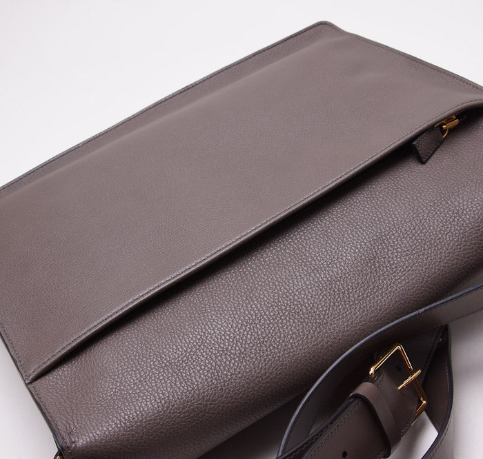Tom Ford 'Buckley' Gray Leather Messenger Bag