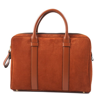 Tom Ford 'Buckley' Slim Briefcase in Orange Suede - Top Shelf Apparel