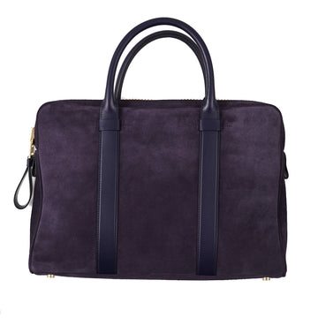 Tom Ford 'Buckley' Slim Briefcase in Midnight Suede