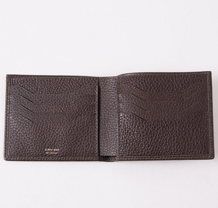 Tom Ford Brown Grained Classic Bi-Fold Wallet