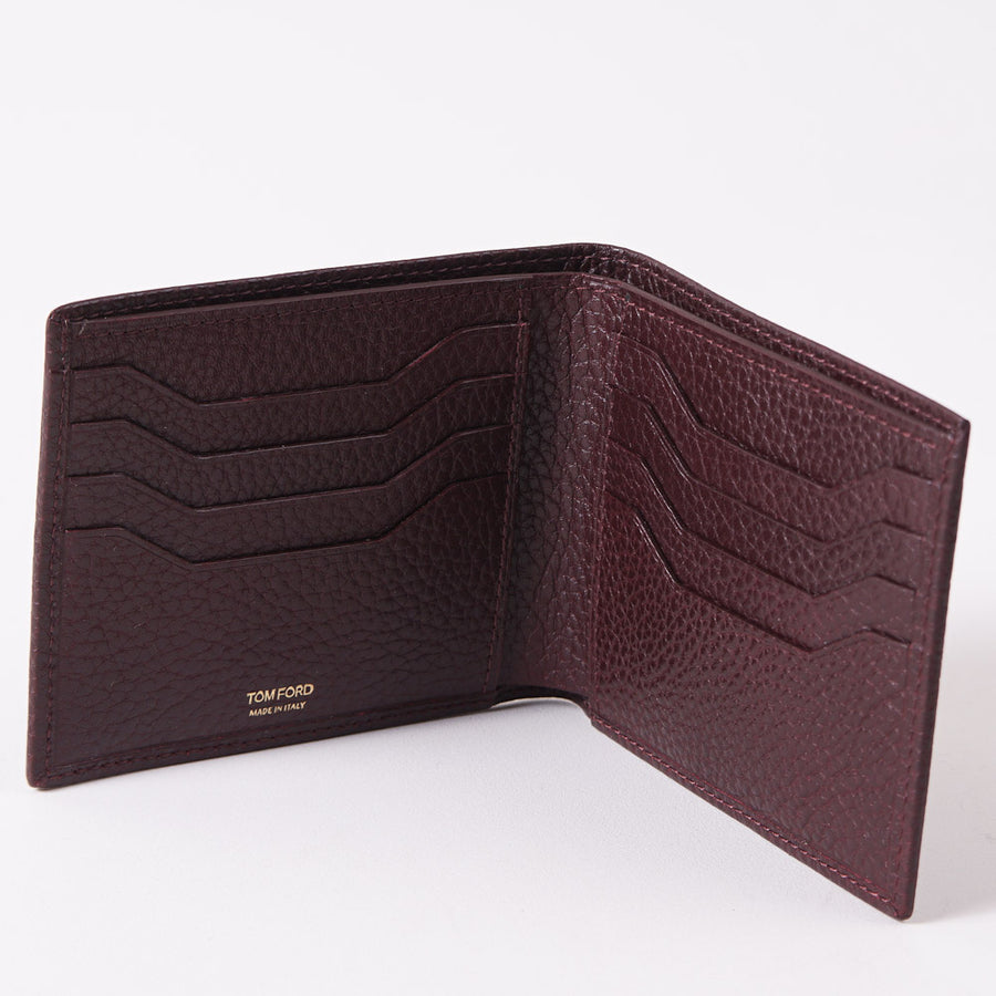 Tom Ford Burgundy Classic Bi-Fold Wallet