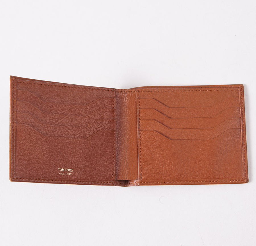 Tom Ford Dark Tan Classic Bi-Fold Wallet - Top Shelf Apparel