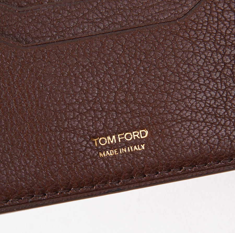 Tom Ford Chocolate Brown Bi-Fold ID Wallet - Top Shelf Apparel