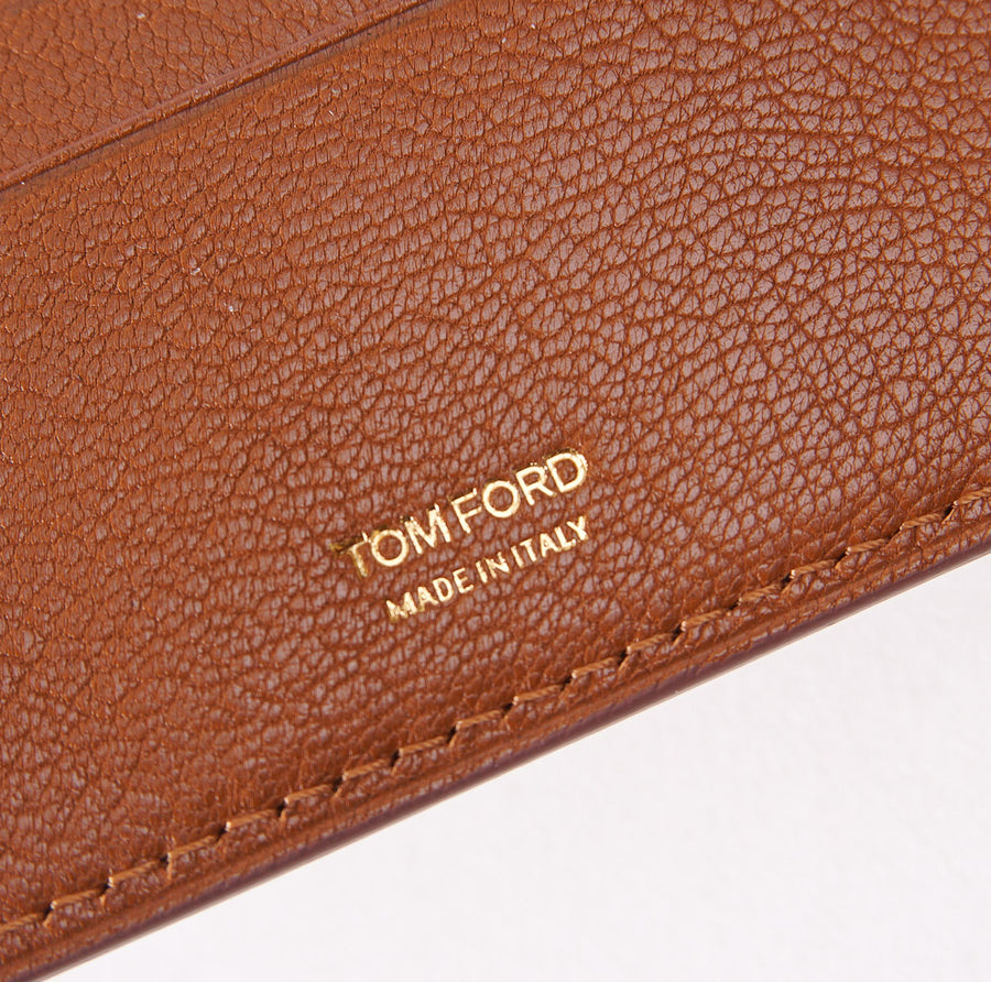 Tom Ford Tan Bi-Fold ID Wallet