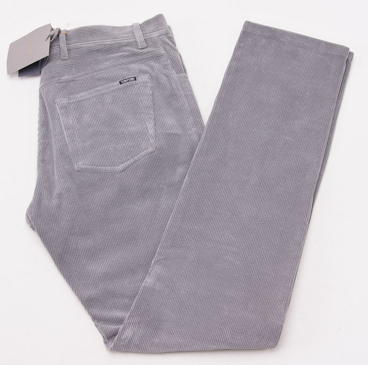 Tom Ford Light Gray Cord Jeans 32W - Top Shelf Apparel - 1