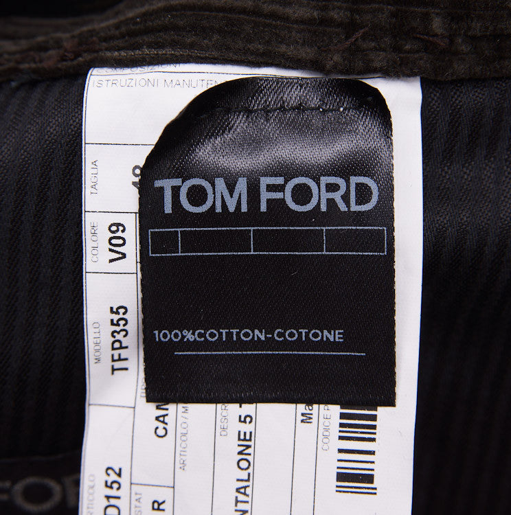 Tom Ford Olive Cord Jeans 32W - Top Shelf Apparel - 6