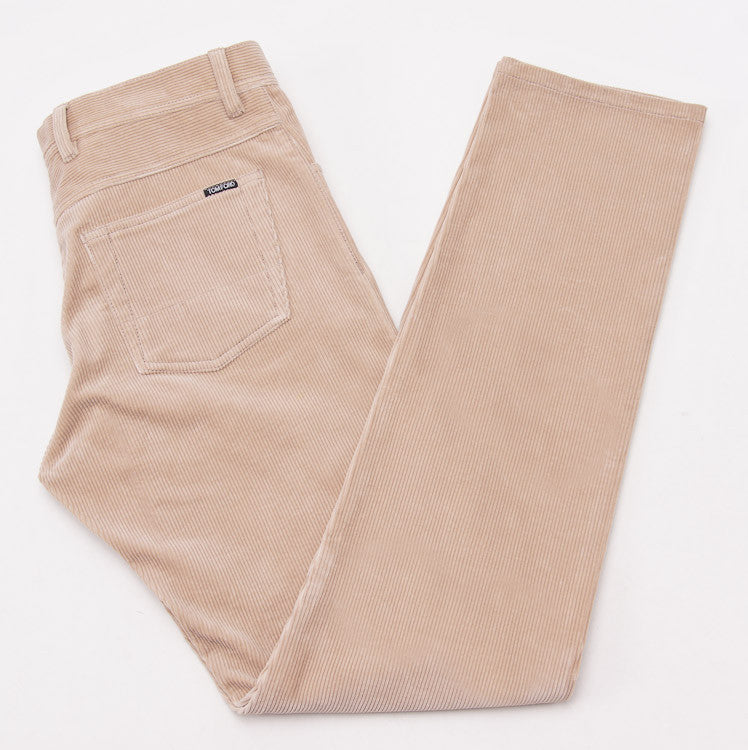 Tom Ford Camel Tan Cord Jeans 32W - Top Shelf Apparel
