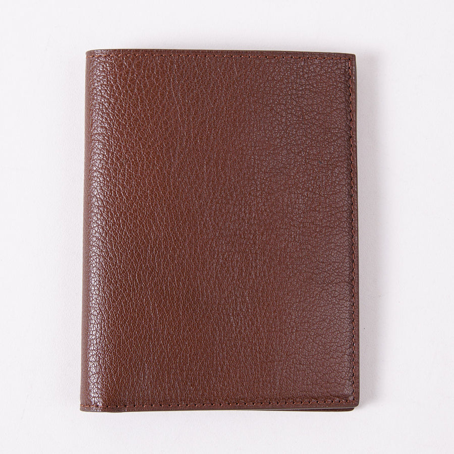 Tom Ford Brown Leather Passport Wallet - Top Shelf Apparel