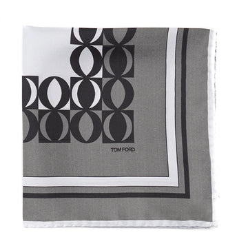 Tom Ford Contrast Print Pocket Square
