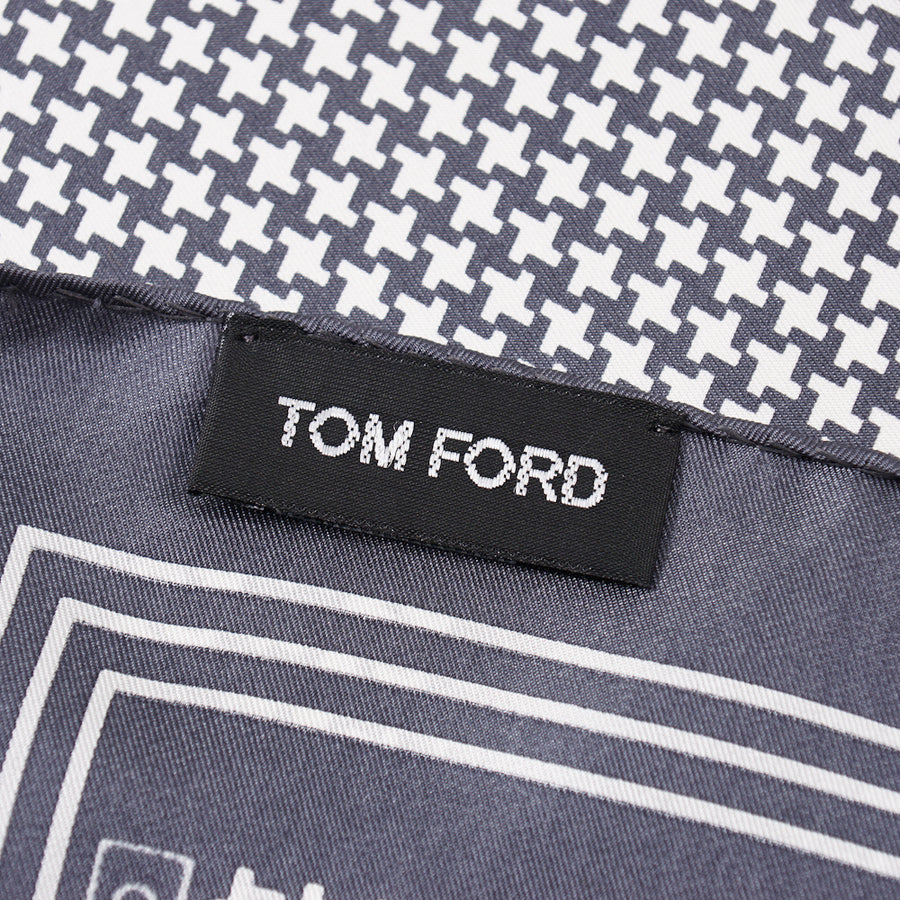 Tom Ford Houndstooth Print Pocket Square
