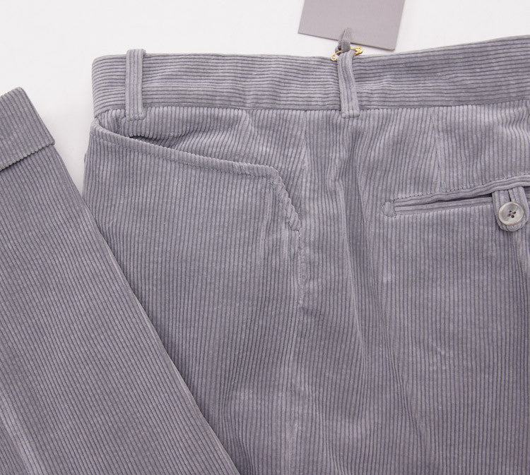 Tom Ford Light Gray Corduroy Pants 32W - Top Shelf Apparel - 2